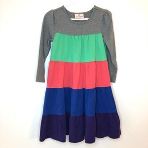 Hanna Andersson Colorblock Dress Size 4